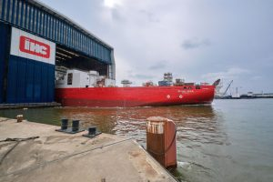 Royal IHC launches Subsea 7's new reel-lay vessel Seven Vega